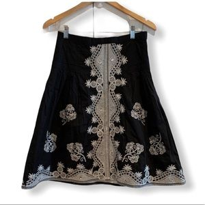 Stunning beaded black skirt